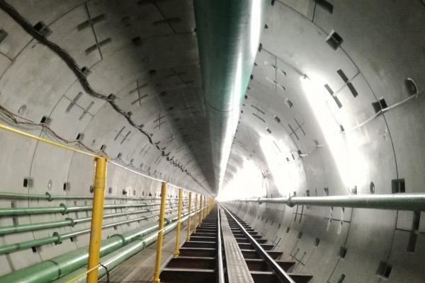 朝霞浄水場から 朝霞市膝折地内間送水管(2600mm)用トンネル築造工事
